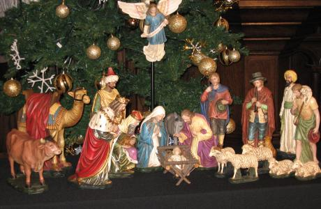 Creche scene at Westminster