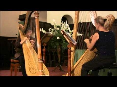 "Duo Harpists Carol Kihm and Beverly Wesner-Hoehn play ""Parvis – Cortege et Danse"""