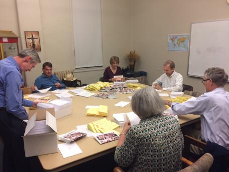 The Stewardship Committee recently compiled the mailing.