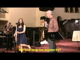 """A Singer is Born, Mr. Wes (Rev.) Nordman surprises the audience with """"Something's Gotta Give"""""""